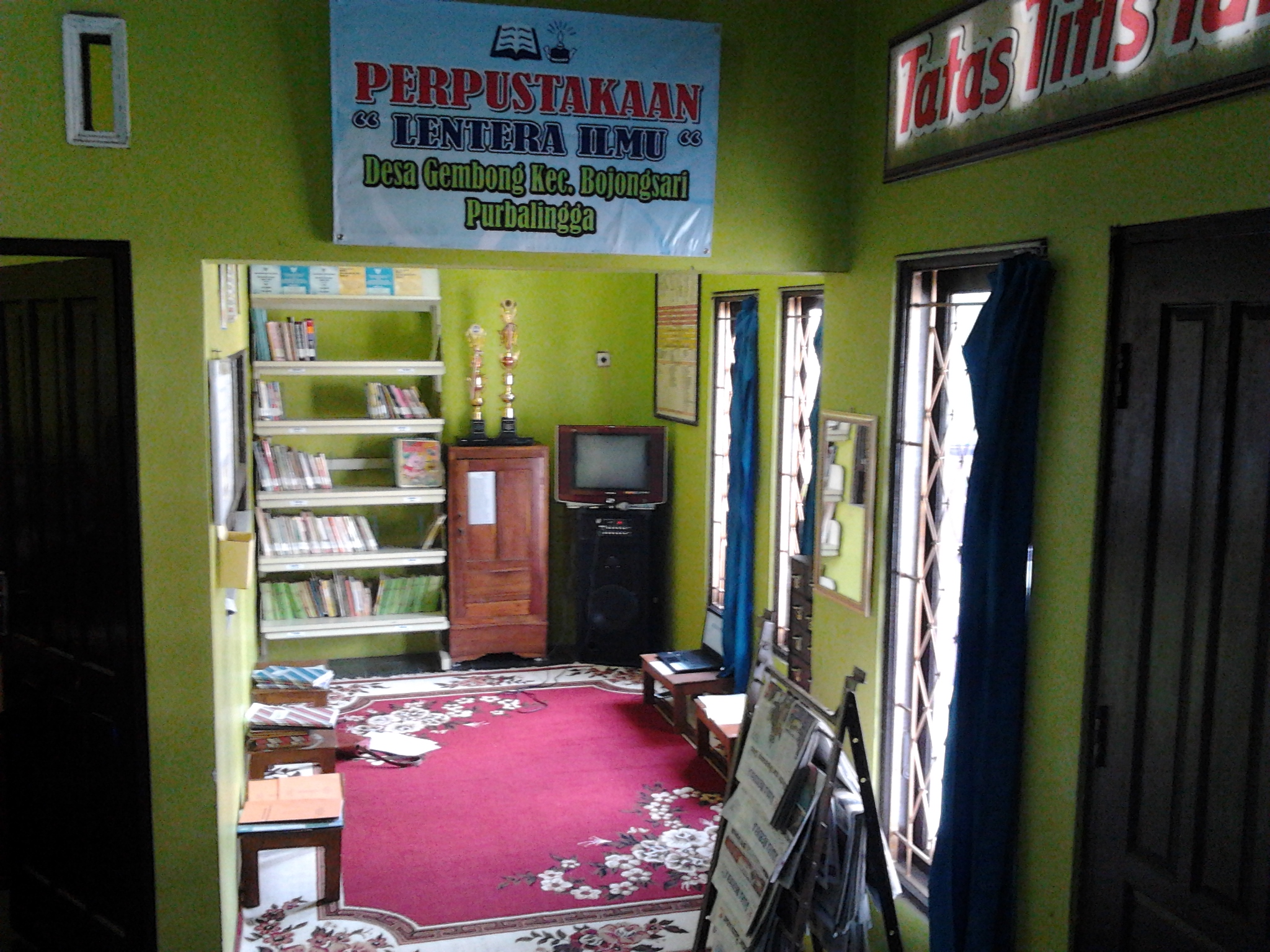 Perpustakaan Lentera Ilmu Desa Gembong,Bersaing Memperebutkan Juara 1 Perpustakaan Tingkat Kabupaten Purbalingga